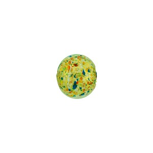 Green Jewelled Murano Glass Multi-Colored Round Bead, 8mm, Gold Foil
