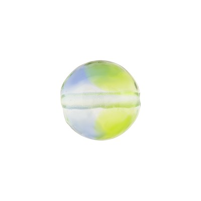 Murano Glass Bead, Lido, Bicolor Round 12mm, Green and Blue