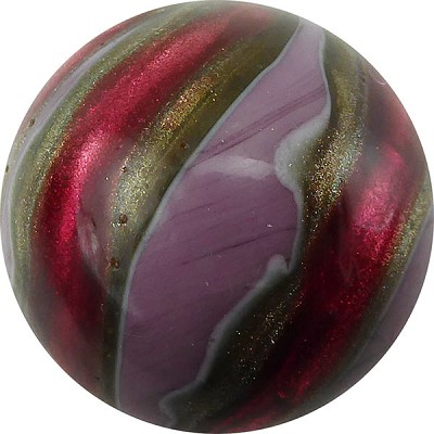Murano Glass Bead Viola, Rubino Missoni Round 25mm