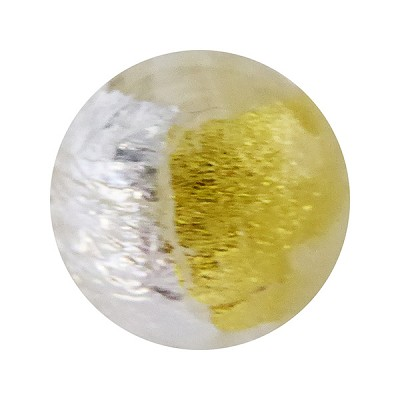 Crystal Pezzato Murano Glass Round 12mm Gold & Silver