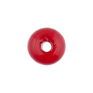 Cherry Red Rondelle 15X10mm 2mm Hole, Murano Glass Bead