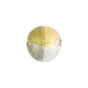 Murano Glass Bead, 4 Colors Round 12mm, Gray Silver and Gold Foil