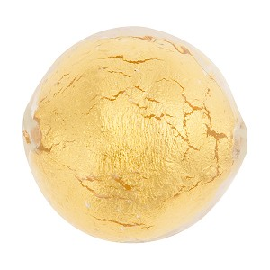 Crystal/Gold Venetian Beads Gold 25mm Round