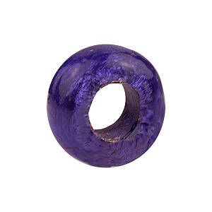 Plum Silver Foil Rondell 16x10 6.8mm Hole Murano Glass Bead