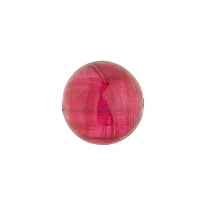 Rubino Pink Transparent Murano Glass Round Bead, 12mm