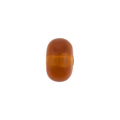 Murano Glass Bead, Rondel, 11x7mm Transparent Topaz