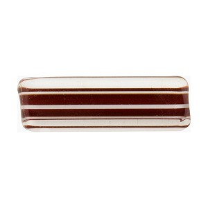 Red with Aventurina Rectangle Murano Furnace Glass, Cane Beads 25mm
