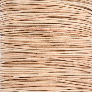 Natural Leather Cord, 1.2mm Diameter, Per Foot