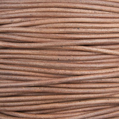Antique Red Brown Leather Cord, 3mm Diameter, Per Foot