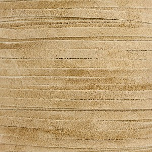 Natural Real Suede Leather Lace, 3mm Width, Per Foot