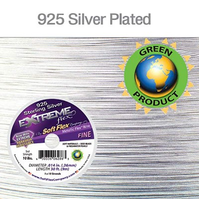 SoftFlex Extreme Flex .014 Dia. 30 Ft. 19 Strand Sterling Silver Plated