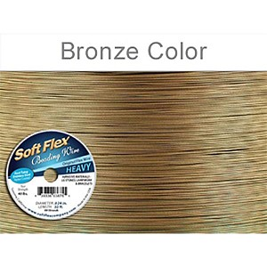 Soft Flex Wire .024 Dia. 30 Ft. 49 Strand Golden Bronze