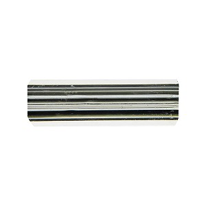 Black and Clear Striped Murano Furnace Glass, Cane Beads 25mm